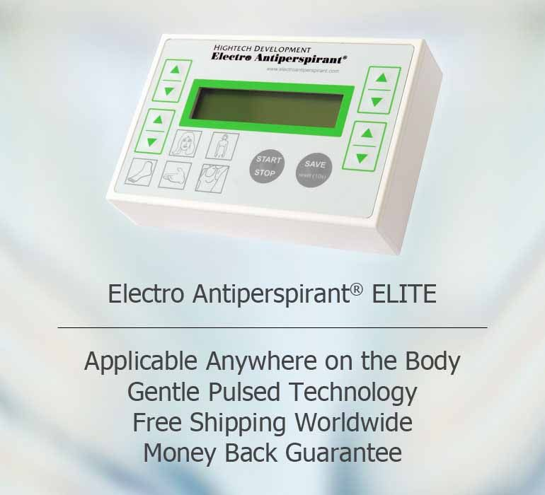Get rid of sweating with Electro Antiperspirant ELITE