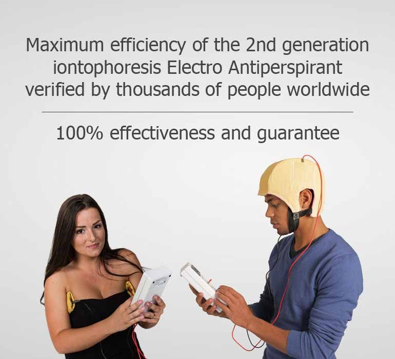 Efficiency of iontophoresis Electro Antiperspirant